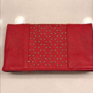 Red fold over clutch